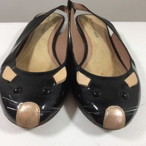 Marc Jacobs Paton leather sling back mouse flats